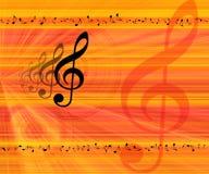 La musica nota la priorità bassa Immagine Stock Libera da Diritti