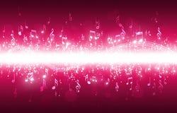 La musica nota la priorità bassa Immagine Stock