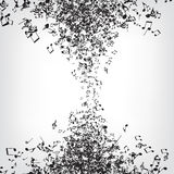 La musica nota la struttura Fotografia Stock Libera da Diritti