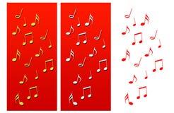 La musica nota le composizioni in natale Immagine Stock Libera da Diritti