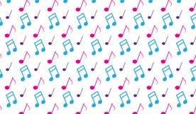 La musica rosa e blu astratta moderna semplice nota il modello Fotografie Stock