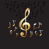 La musique abstraite note le fond Fond de musique Images stock