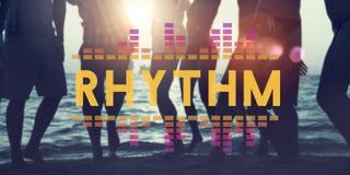 La musique audio d'égaliseur de Digital accorde le concept de graphique d'onde sonore images stock