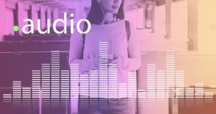 La musique audio d'égaliseur de Digital accorde le concept de graphique d'onde sonore images libres de droits