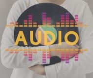 La musique audio d'égaliseur de Digital accorde le concept de graphique d'onde sonore Photo libre de droits