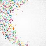 La musique colorée note le fond Photographie stock libre de droits