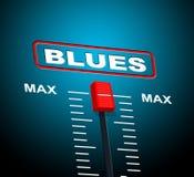 La musique de bleus représente Jazz Band And Audio Image stock