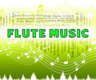 La musique de cannelure indique la piste audio et les flûtistes illustration libre de droits