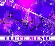 La musique de cannelure indique la piste audio et le flûtiste illustration stock