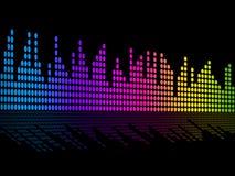 La musique de Digital bat la bande sonore ou le bruit P de musique d'expositions de fond illustration de vecteur