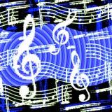 La musique disparaît 'rond illustration stock