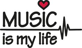 La musique est ma vie avec le battement de coeur Image libre de droits