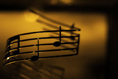 La musique est allumée Image libre de droits