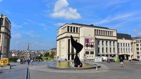 La Musique et le Chant building next to the Mont des Arts garden in Brussels Royalty Free Stock Photos