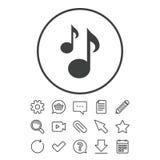 La musique note l'icône de signe Symbole musical illustration stock