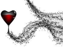 La musique note la bannière Jour du `s de Valentine photographie stock libre de droits