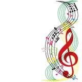 La musique note la composition, fond de thème musical, illust de vecteur Photos stock