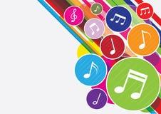 La musique note le fond Photographie stock libre de droits