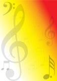 La musique note le fond illustration stock