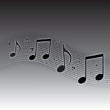 La musique note le fond Images libres de droits