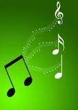 La musique note le fond photo stock