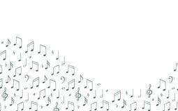 La musique note le fond calibre de bannière Symbole de mélodie Llustration noir et de wite illustration de vecteur