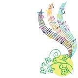 La musique note le fond, composition en thème musical Photographie stock libre de droits