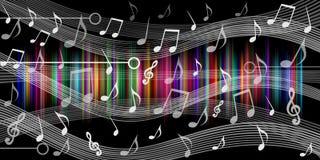 La musique note le fond noir Illustration de vecteur illustration stock