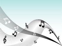 La musique note le vecteur Images stock
