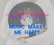La musique ondule le concept audio de mode de vie Photo stock