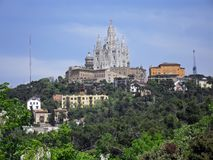 La néo- église gothique d'Iglesia del Sagrat Cor photo libre de droits