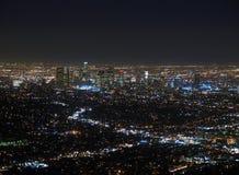 LA nachts stockfotografie