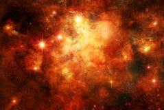 la naissance donnent des étoiles où photo stock