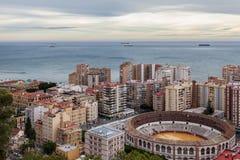 La Nalagueta, Malaga, Espagne de Plaza de Toros De Photographie stock