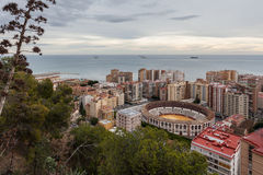 La Nalagueta, Malaga, Espagne de Plaza de Toros De Photos stock