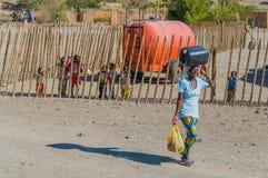 La Namibia - fiume arancio fotografia stock libera da diritti