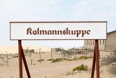 LA NAMIBIE, KOLMANSKOP - SEPTEMBRE, 14 2014 : Ville fantôme Photographie stock libre de droits