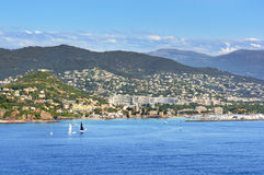 La Napoule coast, south of France Stock Photography