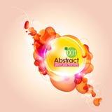 La naranja abstracta burbujea fondo Fotografía de archivo libre de regalías