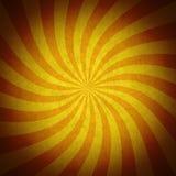 La naranja colorida irradia el fondo del vintage del grunge stock de ilustración