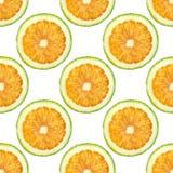 La naranja corta el modelo inconsútil en sabroso dulce del fondo de la frescura jugosa blanca del verano foto de archivo libre de regalías