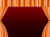 La naranja de Copyspace significa a Live Event And Blank Foto de archivo libre de regalías