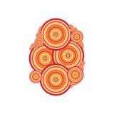 La naranja de la ilustración del vector circunda el fondo Foto de archivo