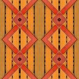 La naranja de madera de la cerca con madera roja adorna el fondo inconsútil Imagen de archivo libre de regalías