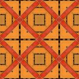 La naranja de madera de la cerca con madera roja adorna el fondo inconsútil Imágenes de archivo libres de regalías