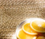 La naranja del corte Imágenes de archivo libres de regalías