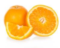 La naranja del corte imagen de archivo libre de regalías