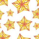 La naranja del vector protagoniza el modelo inconsútil Foto de archivo libre de regalías