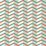 La naranja entrelazada inconsútil y las rayas verdes del zigzag texturizan en el fondo blanco libre illustration