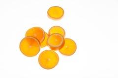 La naranja fresca cortó el ‹del †del ‹del †fresco para comer Imágenes de archivo libres de regalías